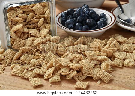 Rice Cereal And Blueberries
