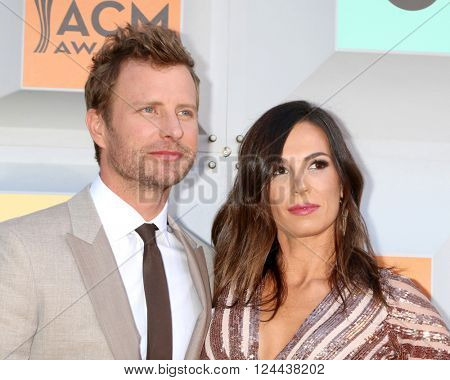LAS VEGAS - APR 3:  Cassidy Bentley, Dierks Bentley at the 51st Academy of Country Music Awards Arrivals at the Four Seasons Hotel on April 3, 2016 in Las Vegas, NV