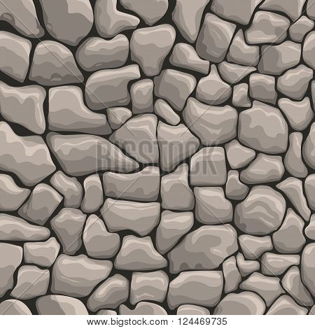 Stone wall seamless texture, stonewall background, brick wall nature patten