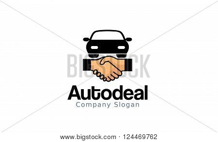 Auto Deal Creative And Symbolic Logo Design Illustration
