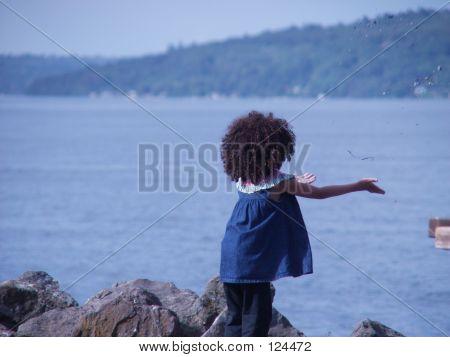 Child Setting Sand Free