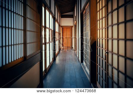 Traditional house in Kyoto in Japan.