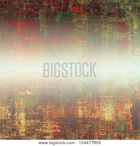 Retro background, antique texture for abstract vintage design composition. With different color patterns: yellow (beige); brown; green; red (orange); white