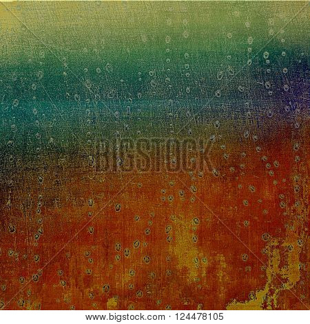 Grunge design composition over ancient vintage texture. Creative background with different color patterns: yellow (beige); brown; green; blue; red (orange)