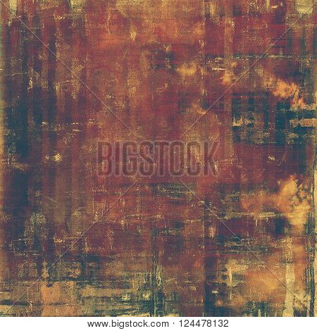 Vintage old-style texture, worn and rough grunge background with different color patterns: yellow (beige); brown; red (orange); purple (violet); black