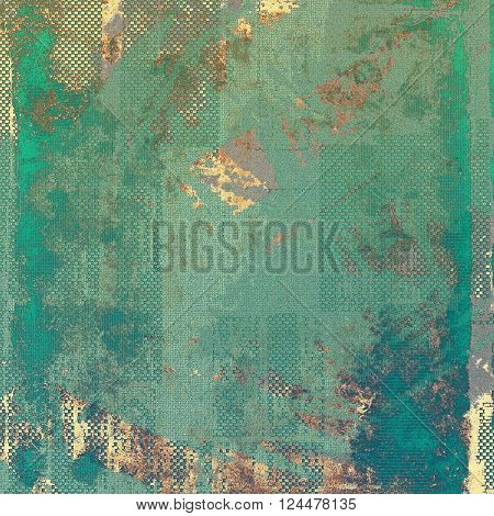 Vintage retro frame or background, old school textured backdrop. With different color patterns: yellow (beige); brown; green; blue; cyan