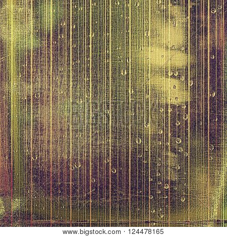 Oldest vintage background in grunge style. Ancient texture with different color patterns: yellow (beige); brown; green; purple (violet); gray