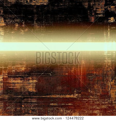 Antique frame or background with vintage feeling. Aged texture with different color patterns: yellow (beige); brown; red (orange); white; black