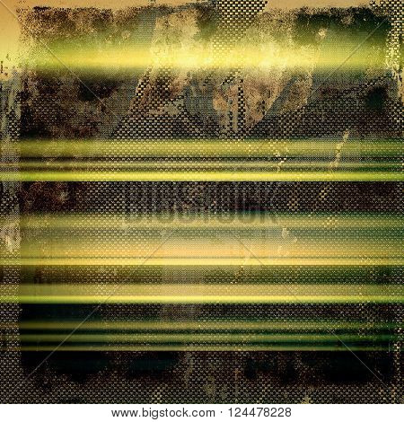 Old style decorative composition or template design with textured grunge elements. With different color patterns: yellow (beige); brown; green; gray; black