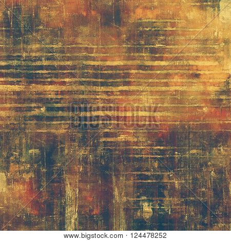 Vintage background, antique grunge backdrop or scratched texture with different color patterns: yellow (beige); brown; red (orange); gray; black