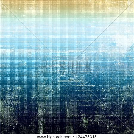 Vintage old-style texture, worn and rough grunge background with different color patterns: blue; yellow (beige); white; cyan; black