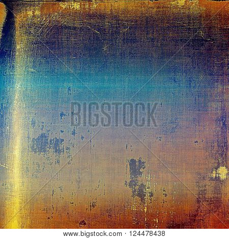 Grunge texture in ancient style, aged background with creative decor and different color patterns: yellow (beige); brown; blue; red (orange); pink