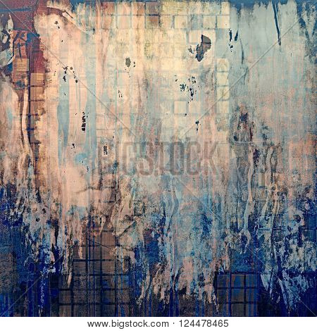 Grunge texture, decorative vintage background. With different color patterns: yellow (beige); brown; blue; pink; gray; cyan