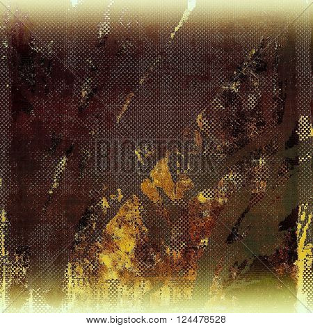 Vintage retro frame or background, old school textured backdrop. With different color patterns: yellow (beige); brown; green; white; gray