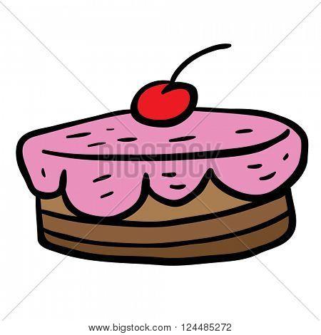 cherry cake cartoon