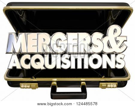 Mergers and Acquisitions Briefcase Business Company Consolidation Offer Buyout