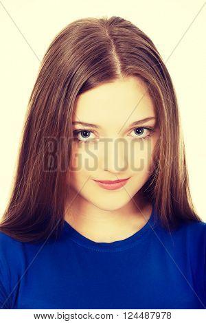Beautiful young teenage woman.