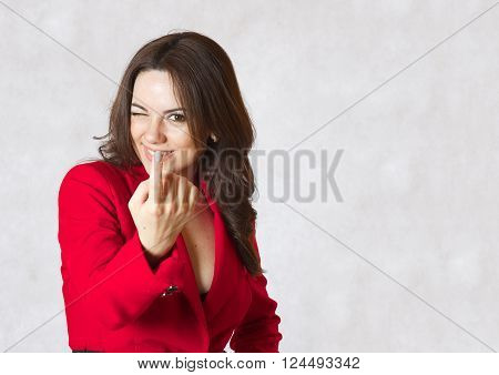 A Young Woman Calls The Interlocutor