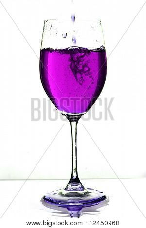 drink in glass splash