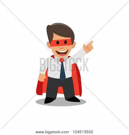 Businessman superman. Businessman in a superhero costume.