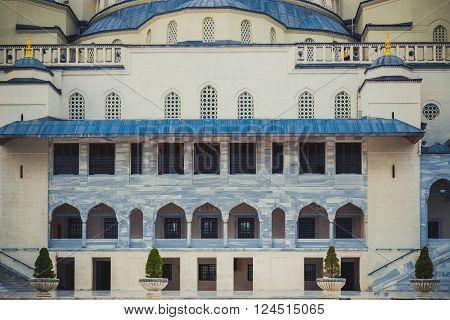 Facade of Old mosque in Ankara city,Turkey