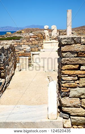 Archeology  In Delos Greece The Historyca