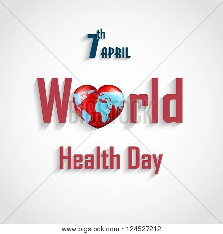 Illustration of World health day concept with text heart