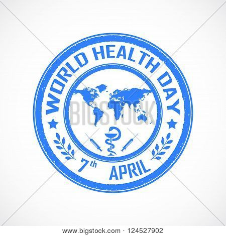 Illustration of World health day concept with globe