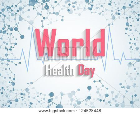 Illustration of World health day concept with DNA