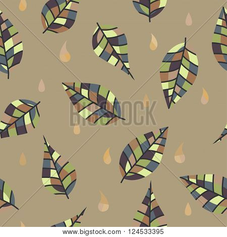 Colorful leaves and drops division for your design.