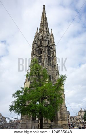 Belltower of Saint-Michel Basilica UNESCO heritage site Bordeaux France