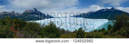 Perito Moreno Glacier panorama in Los Glaciares National Park Patagonia Argentina