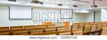 Empty Classroom Waiting For Students