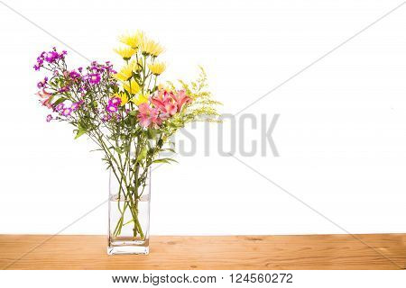 Stagnant water within flower vase potential breeding place for mosquito within homes