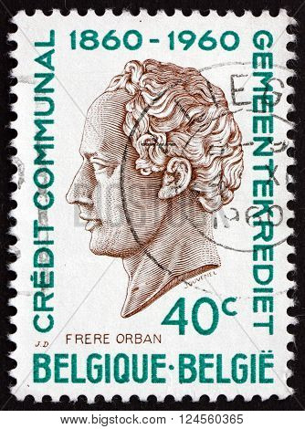 BELGIUM - CIRCA 1960: a stamp printed in the Belgium shows H. J. W. Frere-Orban Portrait Was a Belgian Liberal Politician and Statesman circa 1960