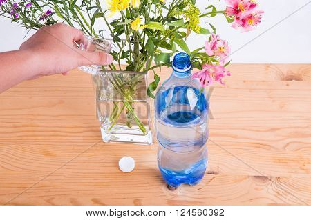 Add Some Soda Into Vase To Keep Cut Flowers Fresher