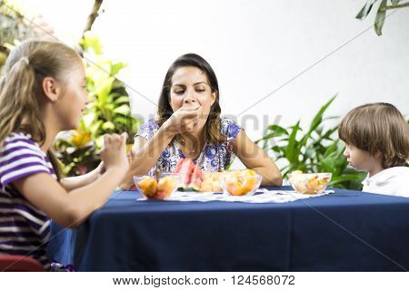 Lovely Family Having Picnic