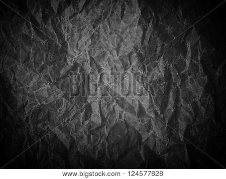 A Crumpled Sheet Of Paper Black