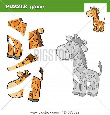 Puzzle Game For Children, Giraffe