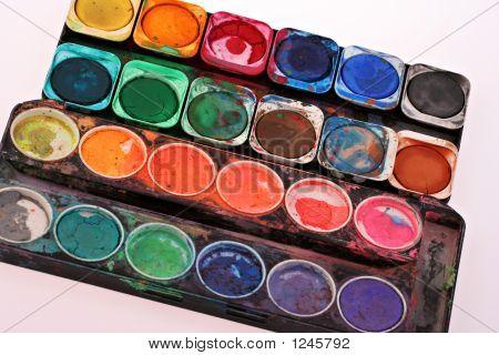 Old Childrens Paint Set