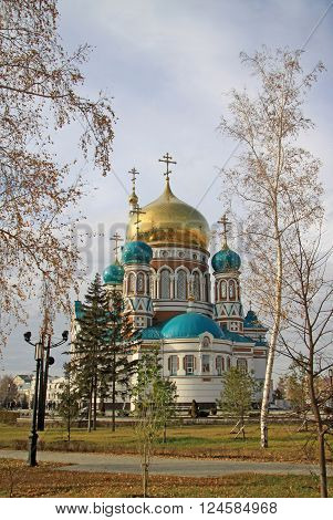 Omsk, Russia - October 01, 2010: Assumption Cathedral (the Dormition Cathedral) In Omsk