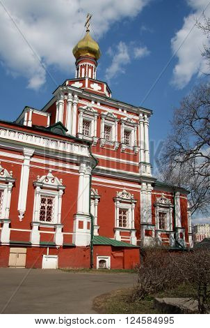 Moscow, Russia - April 24, 2011: Church Of The Assumption In Novodevichy Convent, Moscow