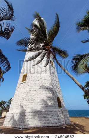DONDRA HEAD LIGHTHOUSE,  SRI LANKA. 01 March 2014 The most southerly point island Sri Lanka.