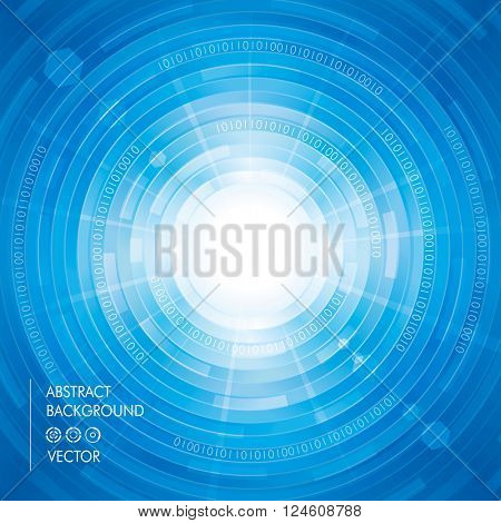 Abstract digitally technology blue background.