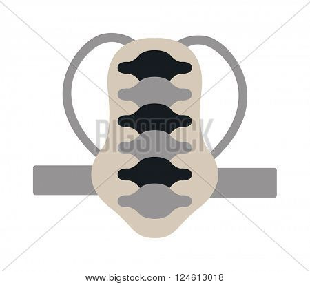 Snowboard back protection vector illustraion isolated on white