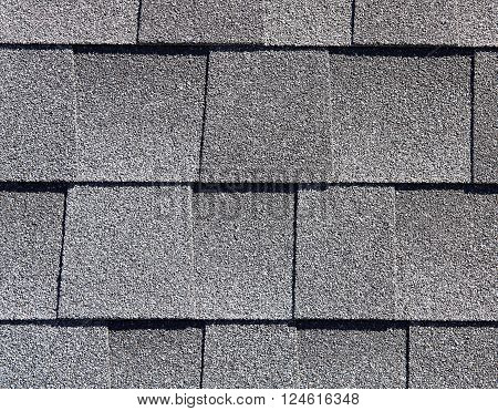 Roofing Shingles Gray Sand Shake Tab Style Pattern