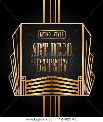 art deco element design, vector illustration eps10 graphic