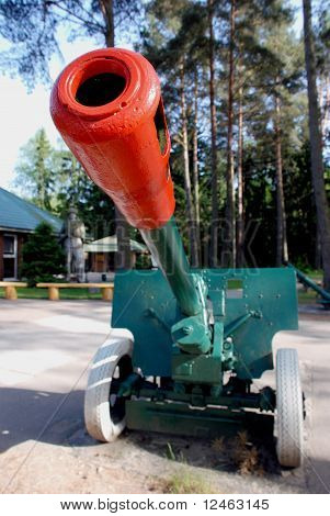 Soviet army cannon