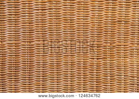 backgrounds and texture concept - close up of brown wicker surface background