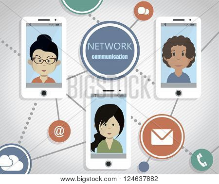 Conceptual immage of people`s worldwide network communication